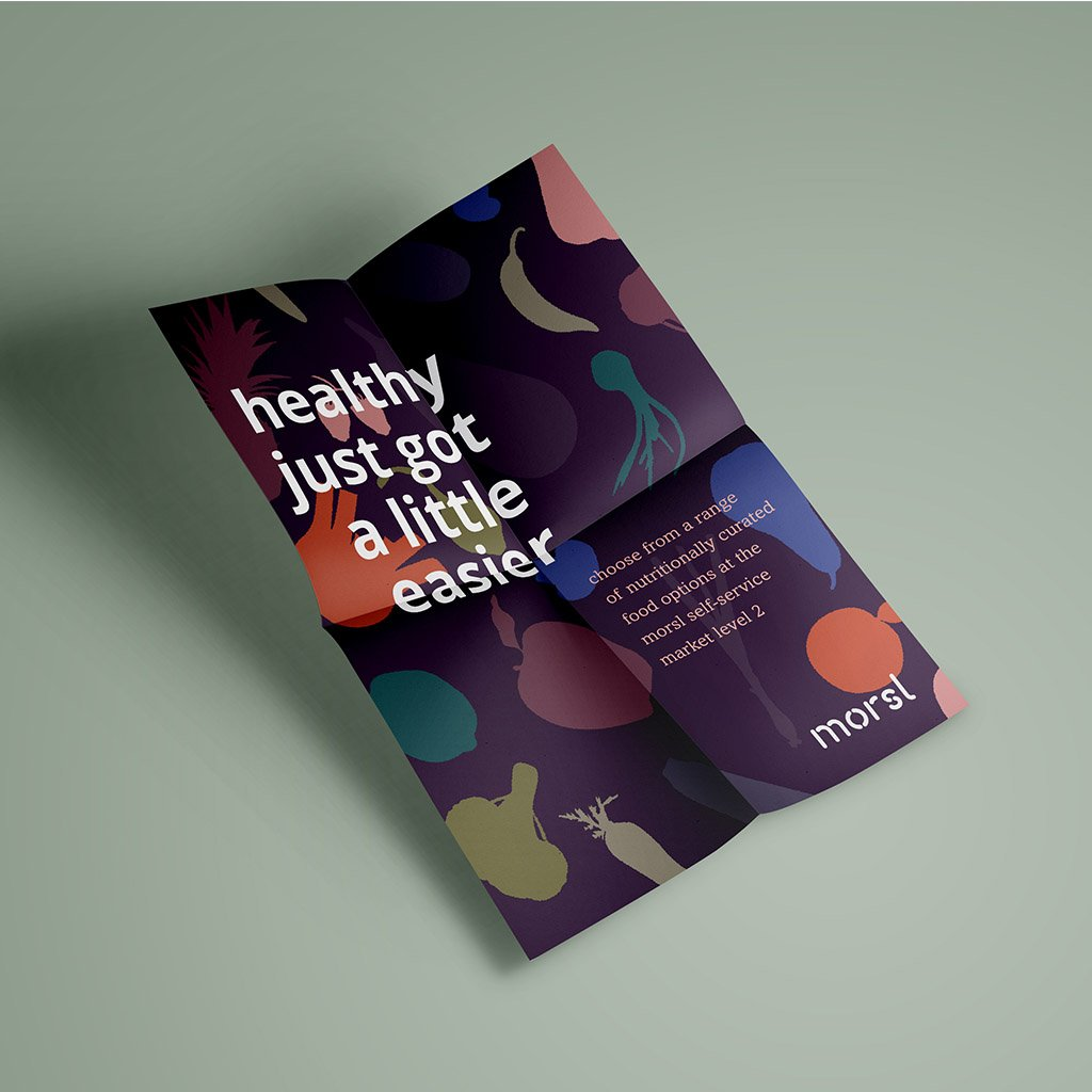 Morsl branding, promotional poster design