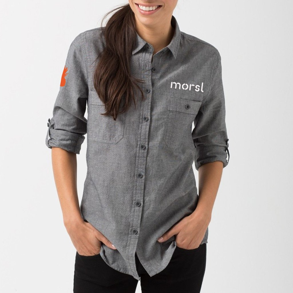 Morsl branding on shirt uniform