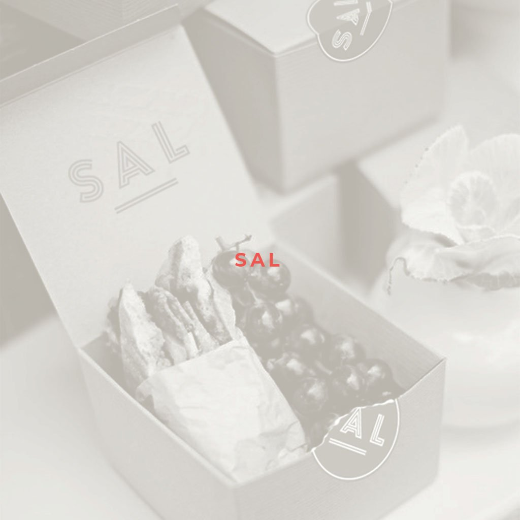 Sal branding, premium lunch box with branded seal sticker