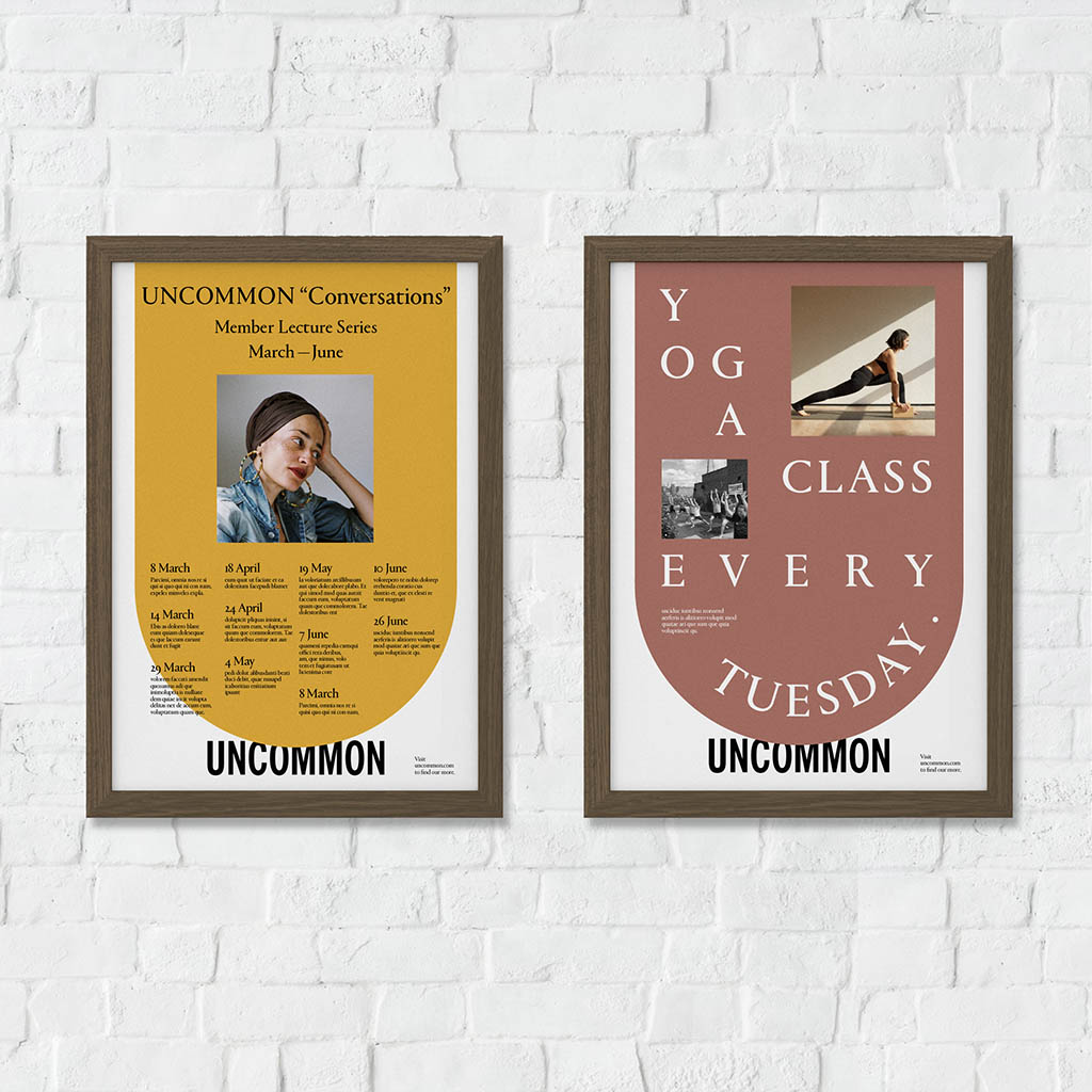 Uncommon branding, promotional posters