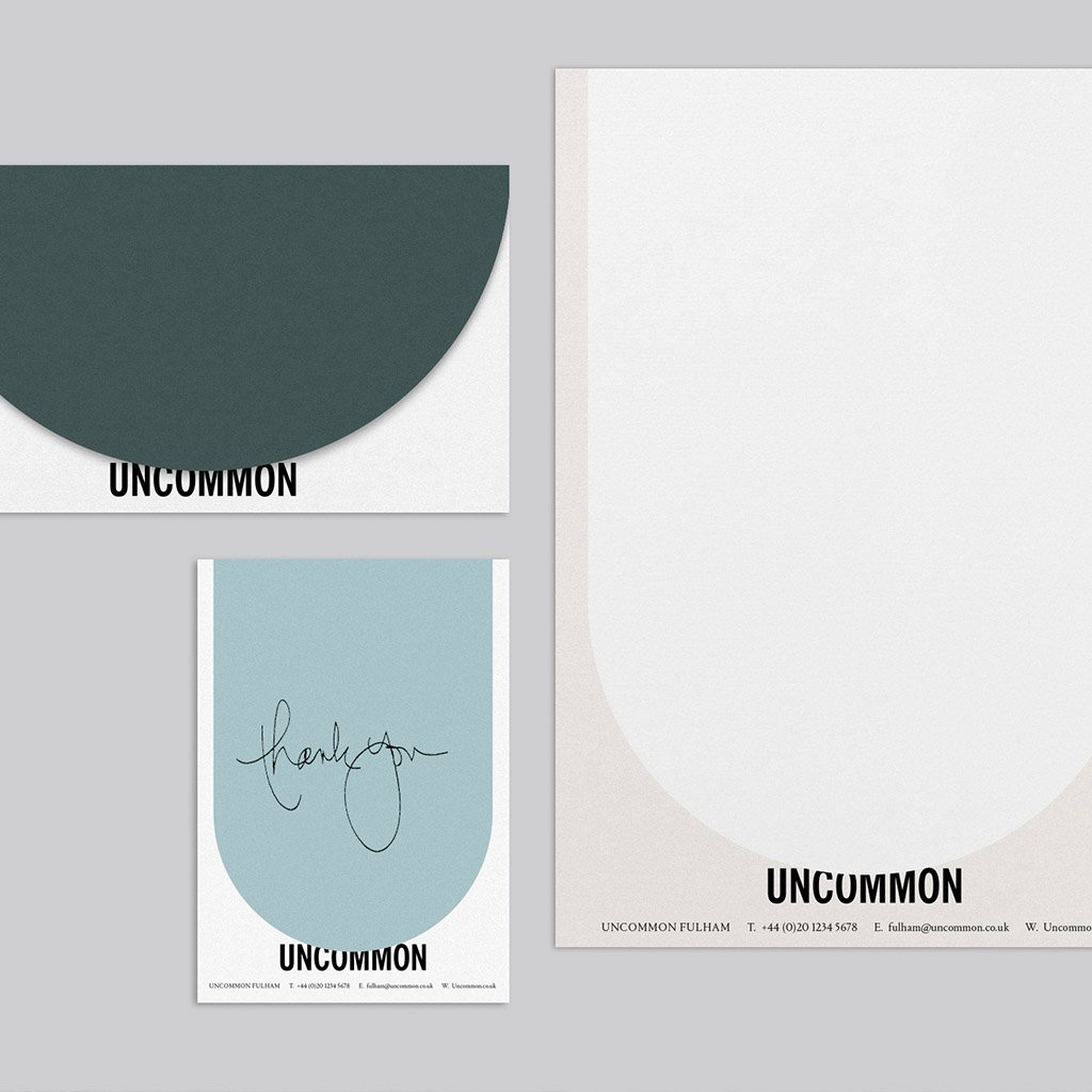 Uncommon branding, stationary design