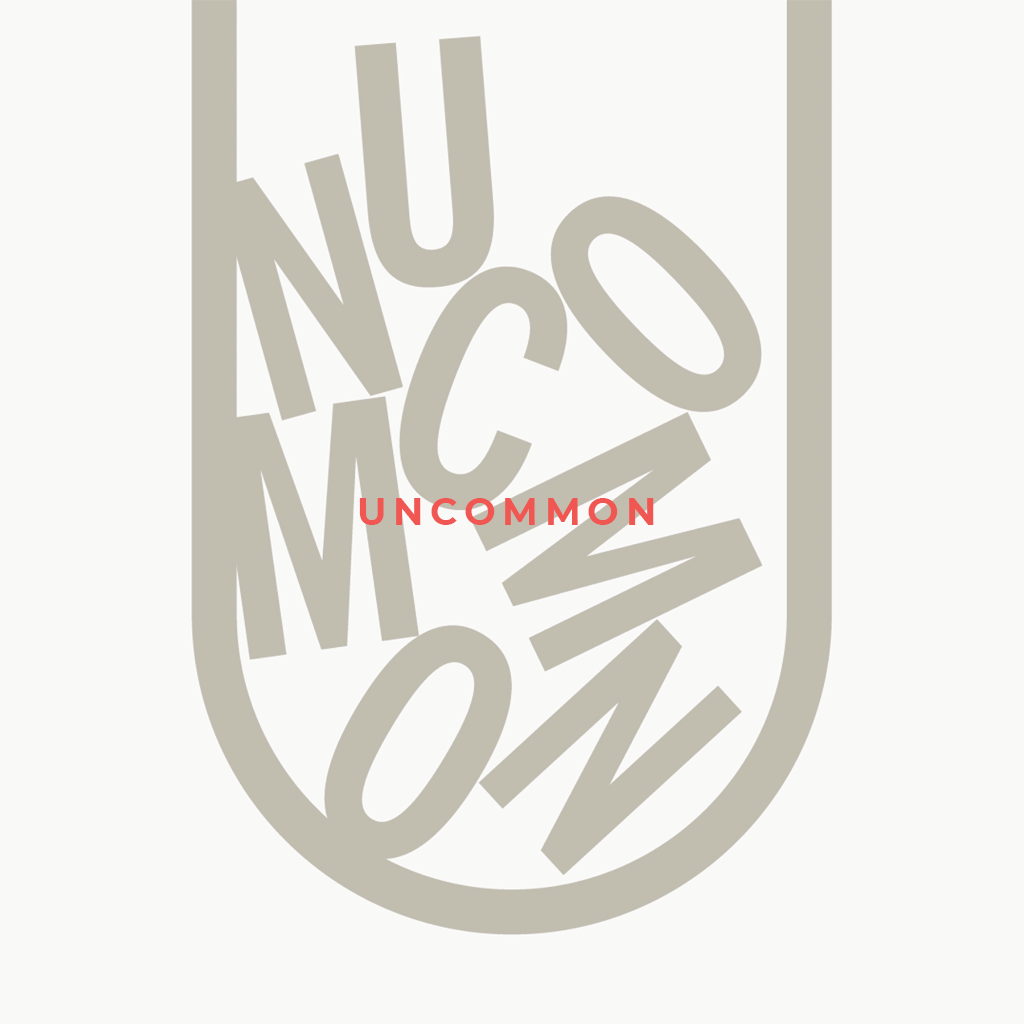 Uncommon branding, jumbled letters