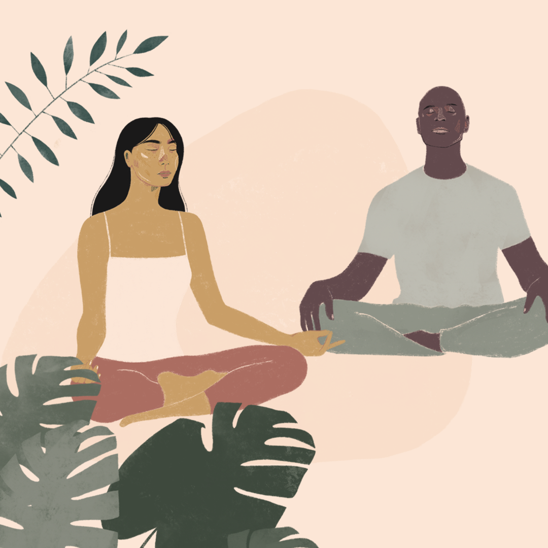 Uncommon branding, meditation illustration
