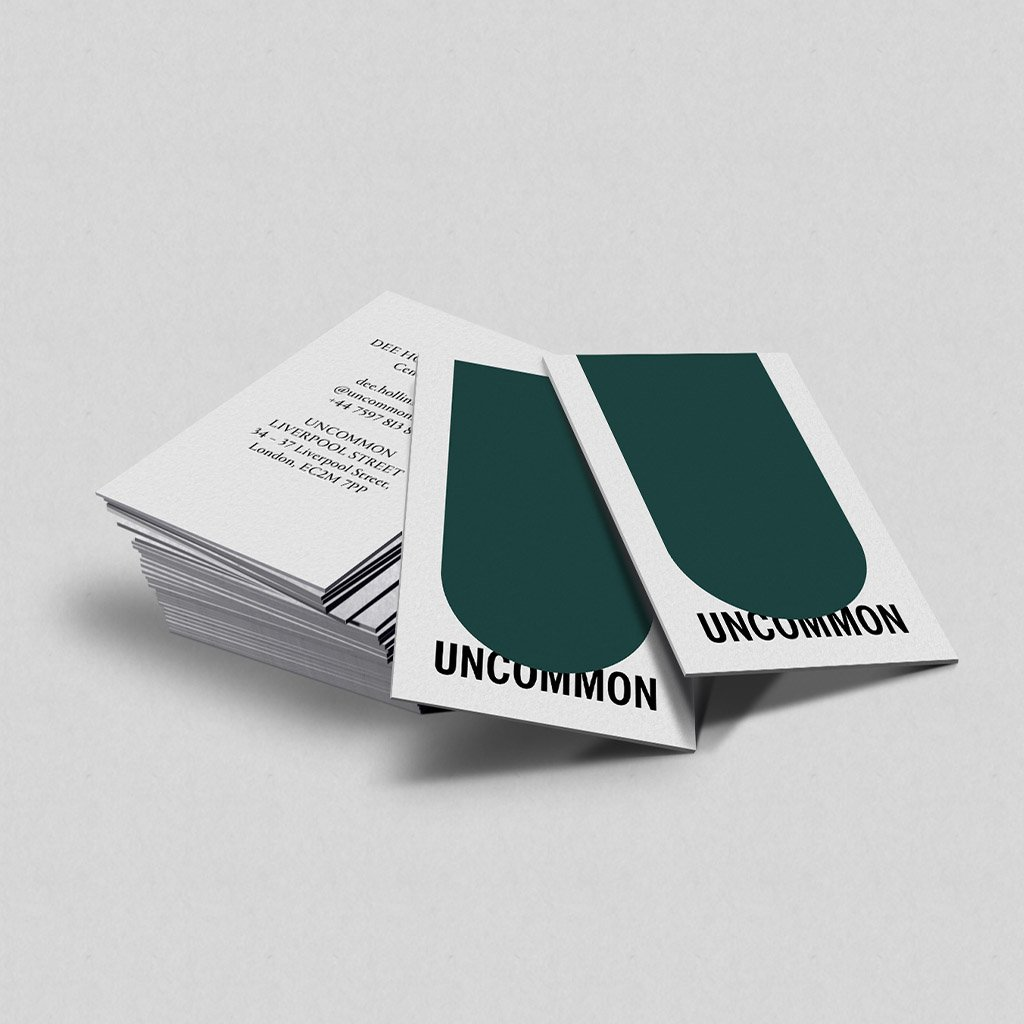 Uncommon branding, business cards design